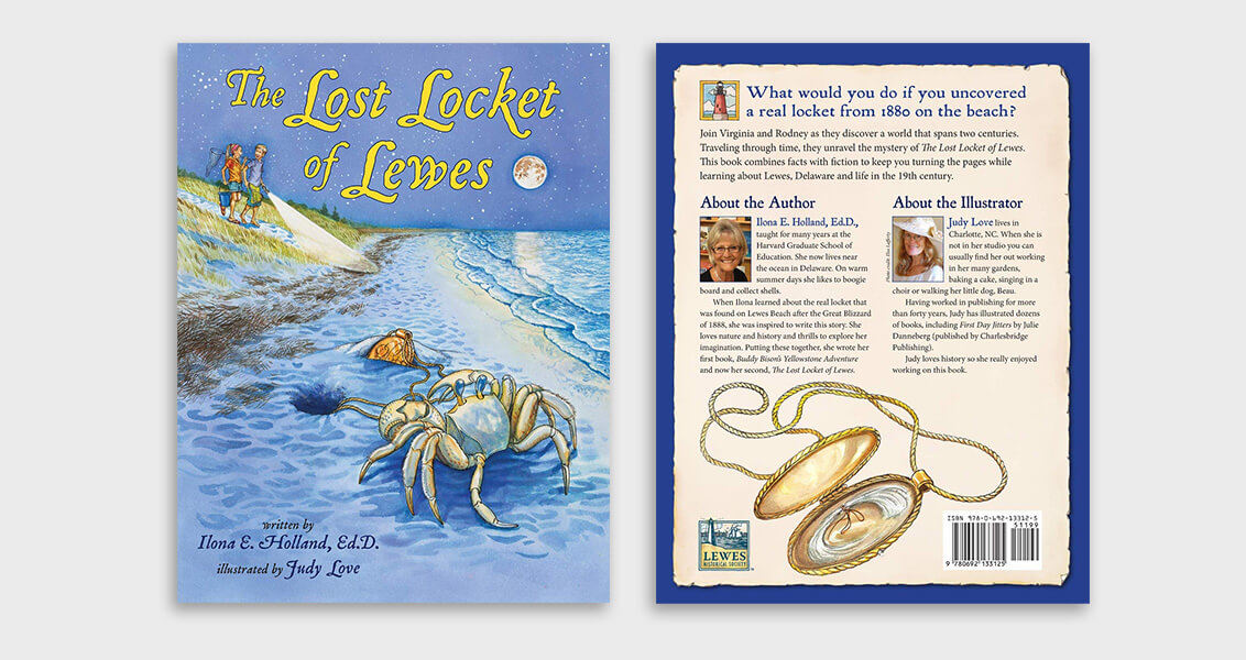 Lost locket front and back cover