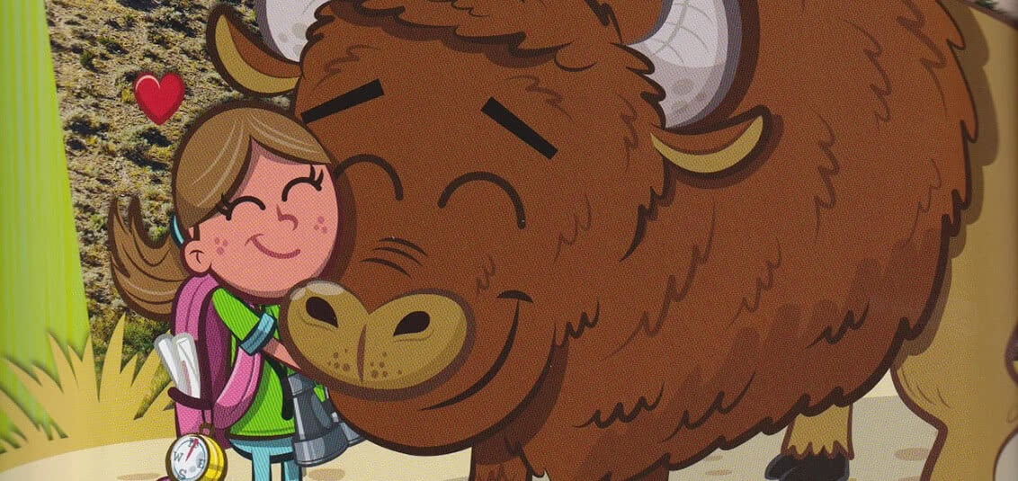 Elena with Buddy Bison