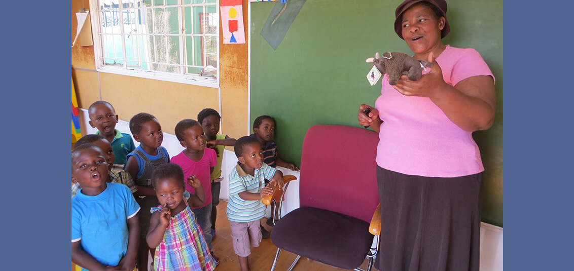 Visiting a preschool in South Africa